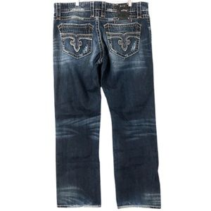 Rock Revival Andy Straight Distressed Denim Jeans